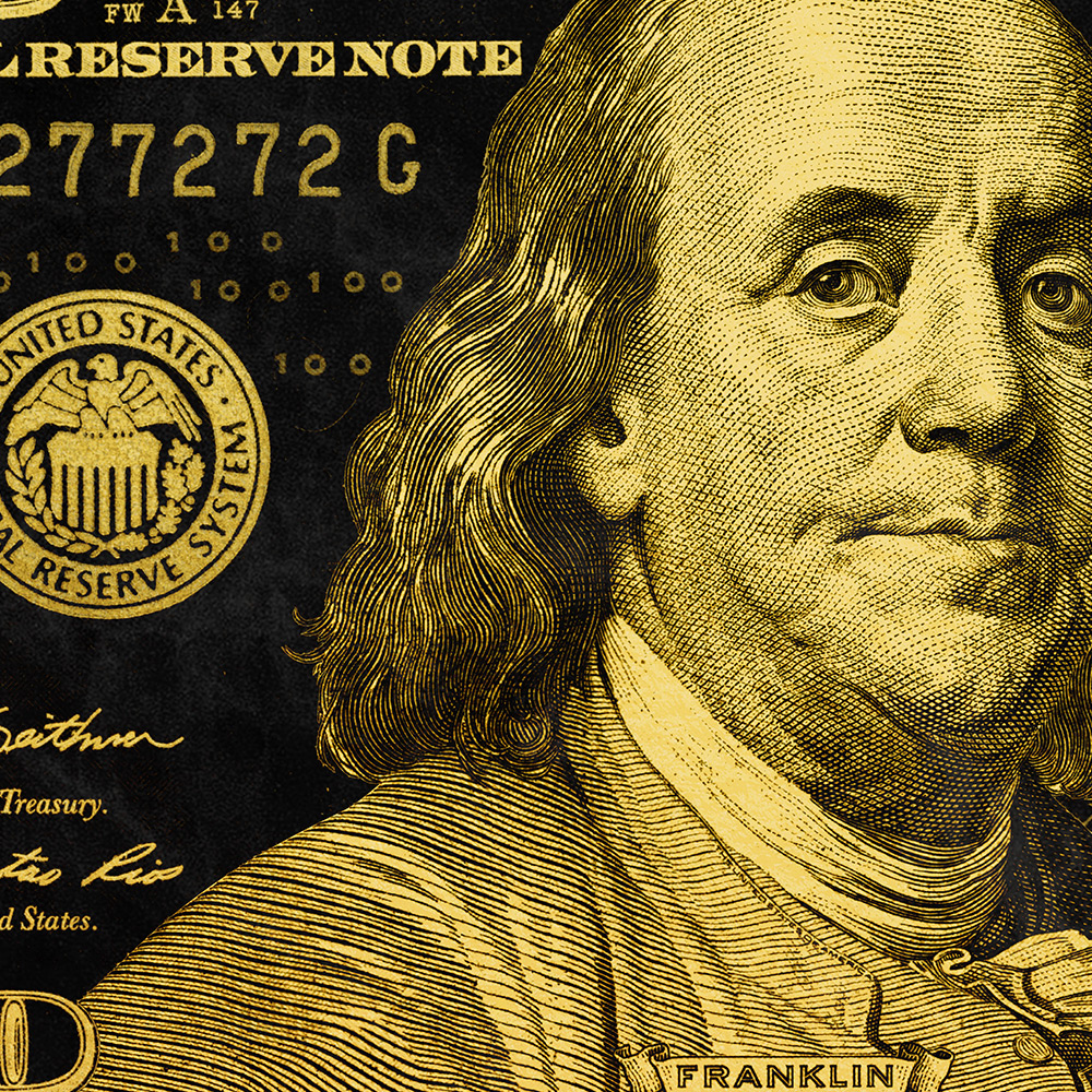 Gold Ben Franklin (New Style)