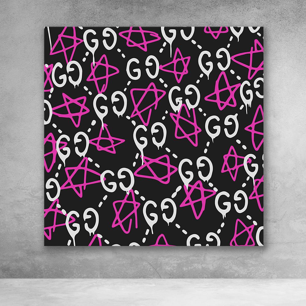 Gucci ghost pattern pink white