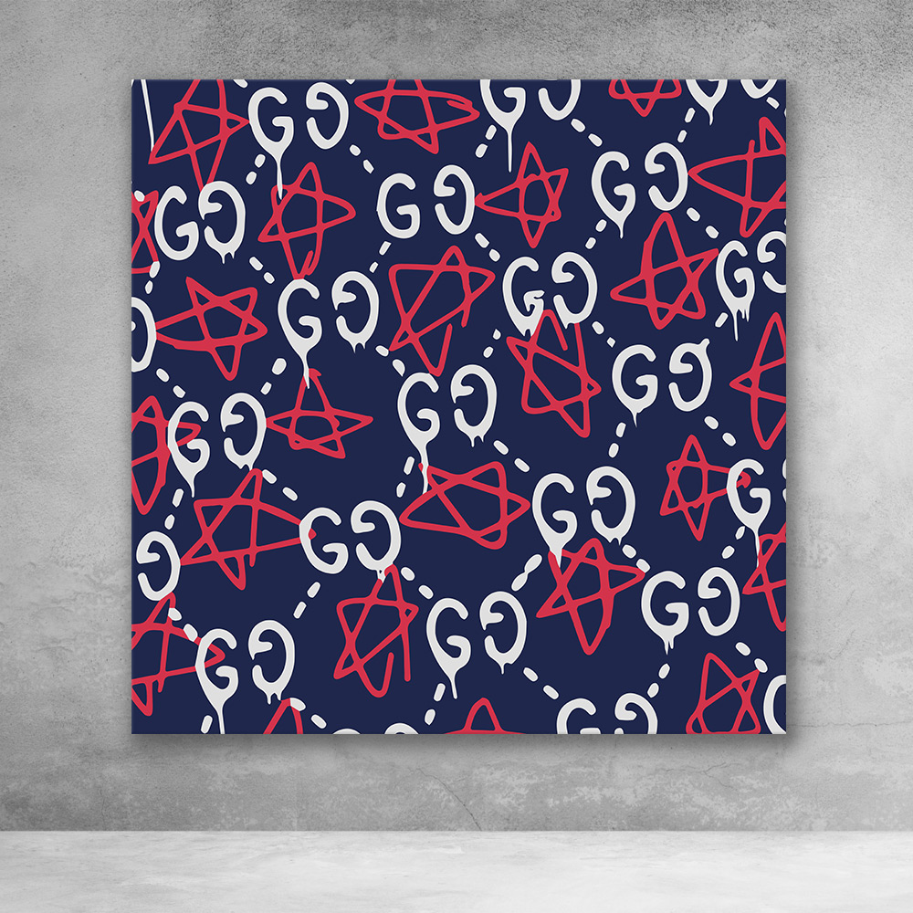 Gucci Ghost Pattern (Red White Blue)