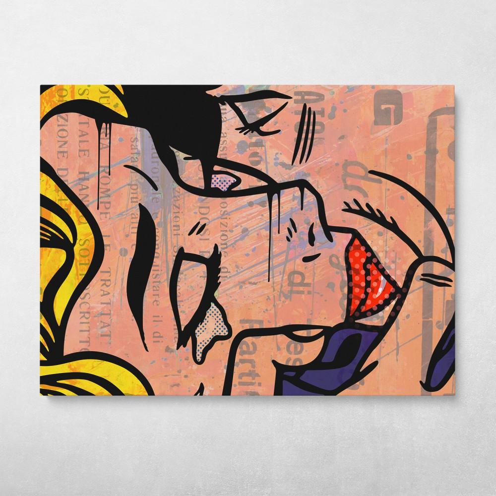Kiss Graffiti Street Art