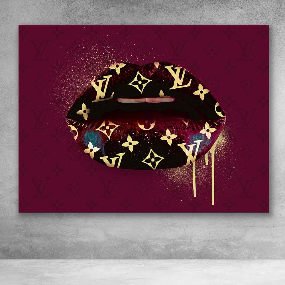 6f433dfdad077 Louis Vuitton Lips Fashion Pop Culture Modern Graffiti Canvas Wall Art