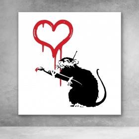Love Rat Banksy Street Art