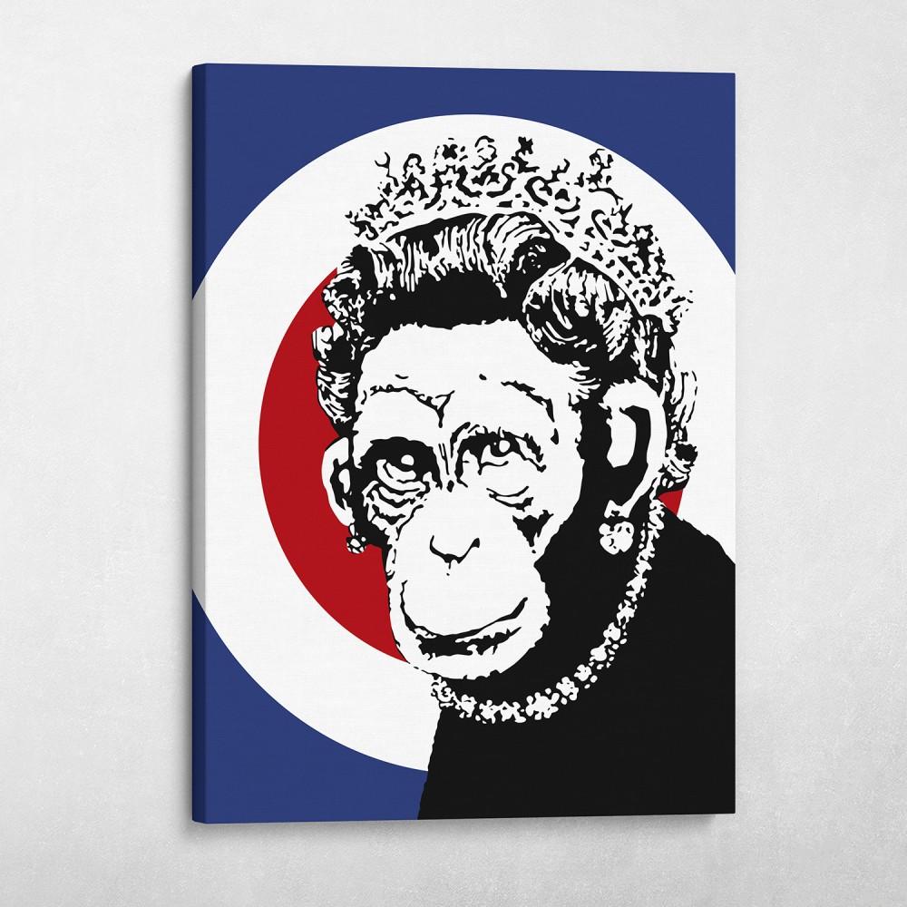 Monkey Queen - Banksy Street Art