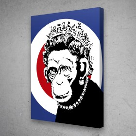 Monkey Queen - Banksy Street Art