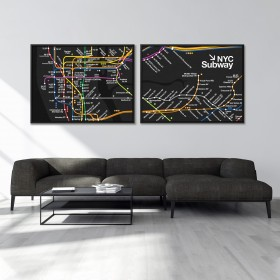 NYC Subway Map (Set of 2)