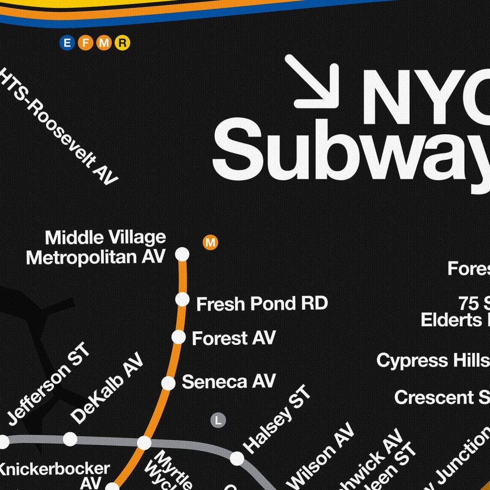 NYC Subway Map (Set of 2)