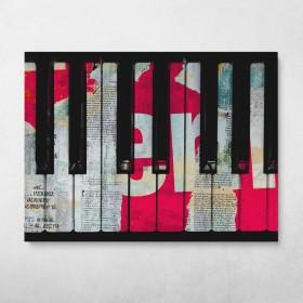 Piano Decollage