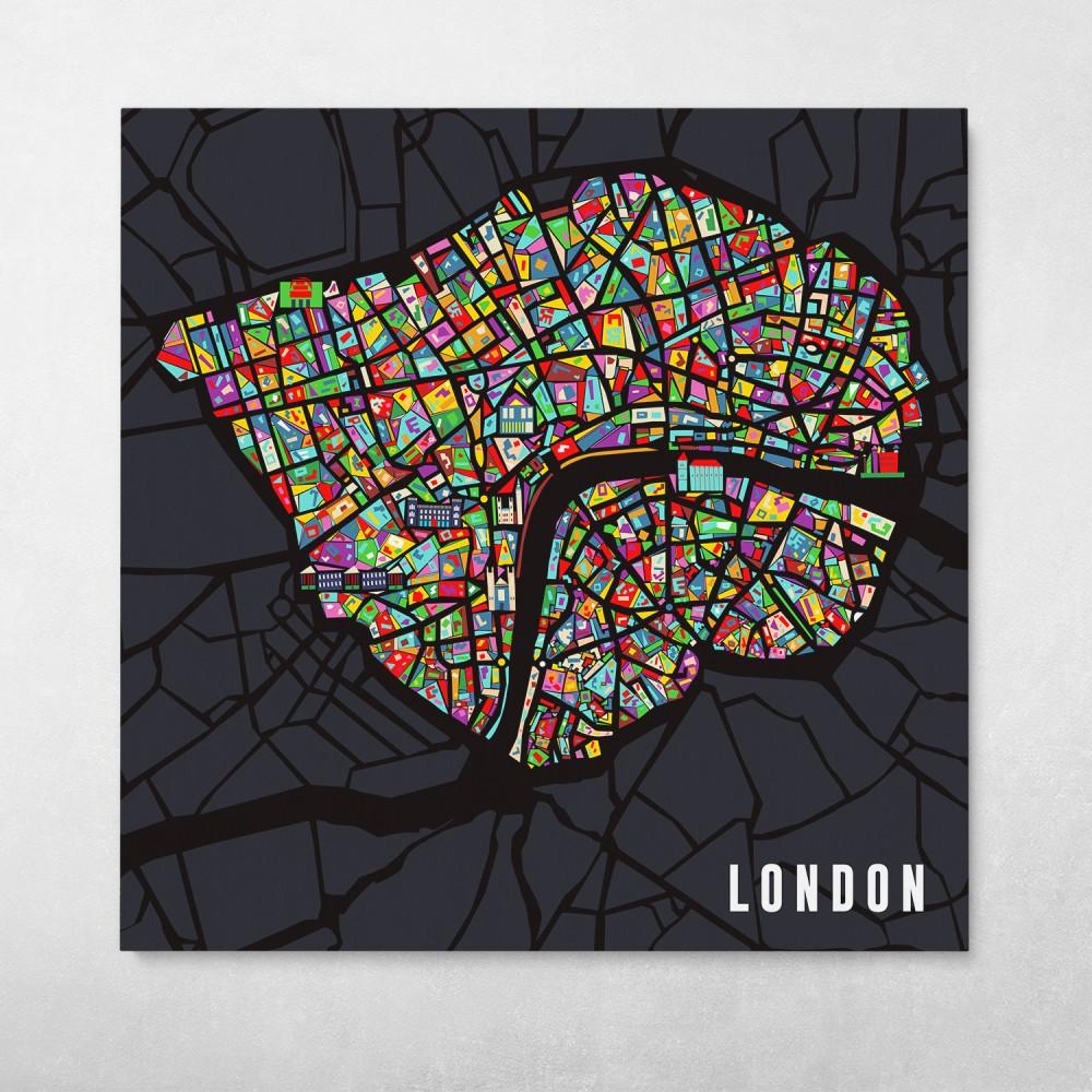 London Pop City Map