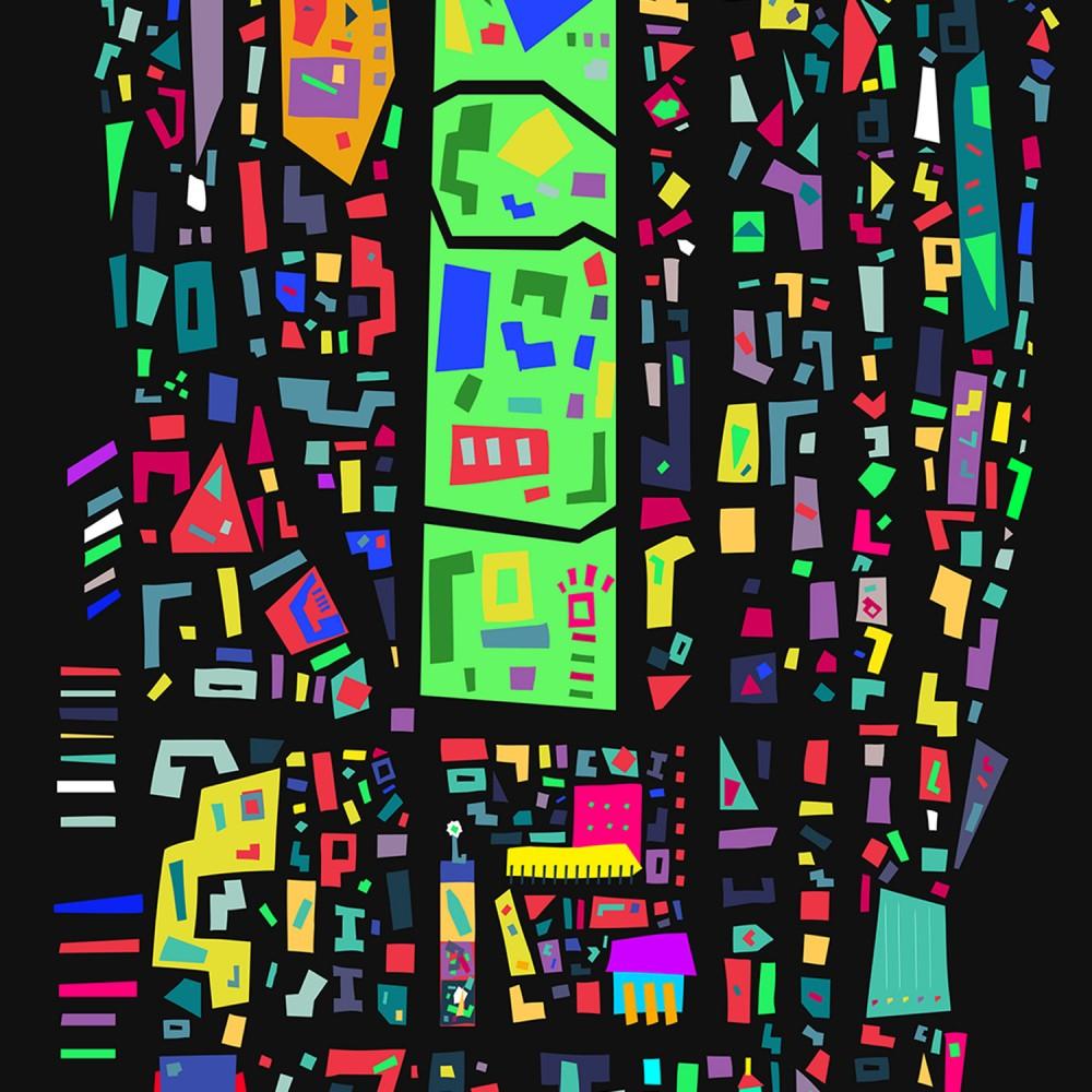 Manhattan Pop City Map