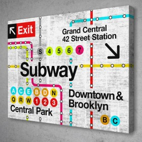 Retro Subway Map