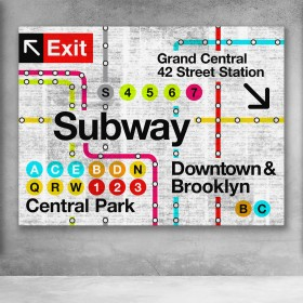 Retro Subway Map