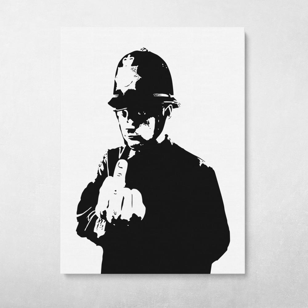 Rude Copper - Banksy Street Art