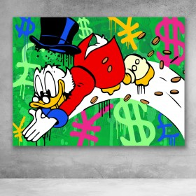 Scrooge McDuck Money Dive Street Art
