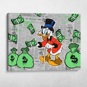 Scrooge McDuck Raining Cash