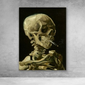 Skeleton With Burning Cigarette - Van Gogh