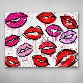 Painted Lips Collage