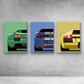 Sports Car Set (Backs)