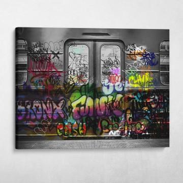 Subway Car Graffiti