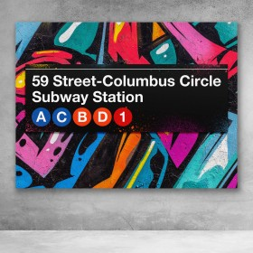 Subway Columbus Circle Graffiti