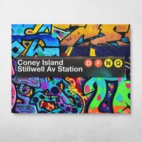 Subway Coney Island Graffiti