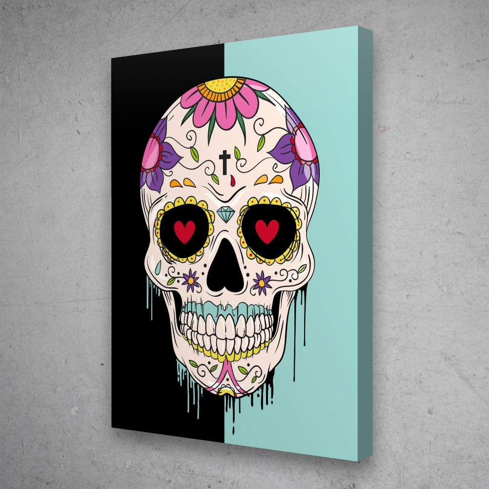 Sugar Skull Pop Graffiti Street Art