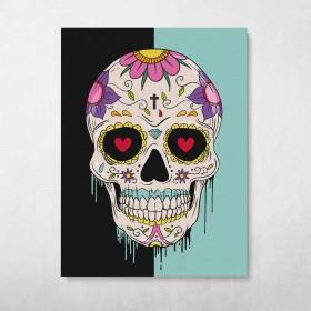 Sugar Skull Pop Graffiti Street Art