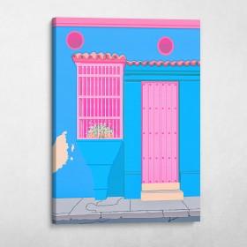 Caribbean Doors (Blue)