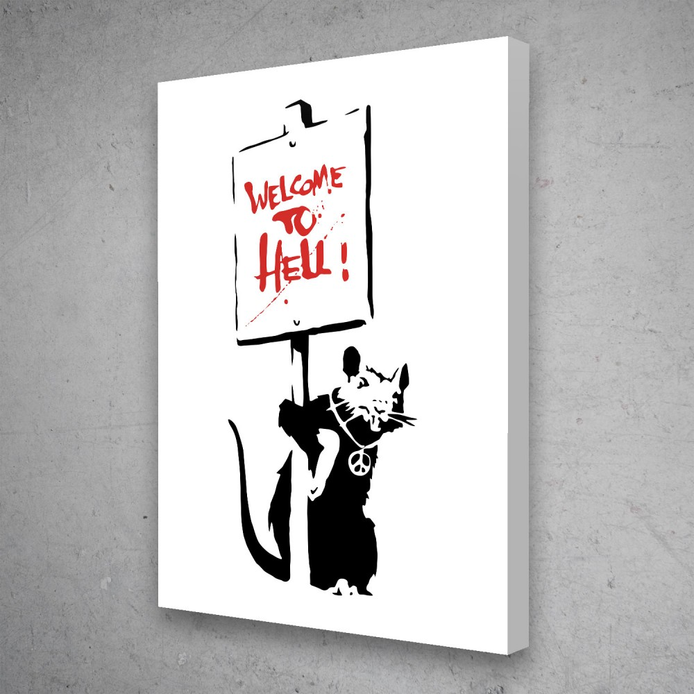 Welcome To Hell - Banksy Street Art