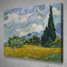 Wheat Field With Cypresses - Van Gogh