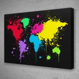 Graffiti World Map
